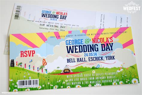 Hochzeitseinladung Festivalticket by Festival Themed Wedding Invitations Wedfest