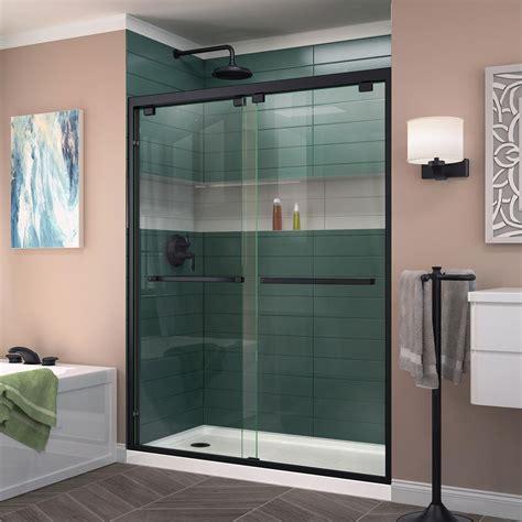 Dreamline Encore 54 In X 76 In Frameless Sliding Shower Black Shower Door