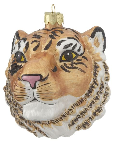 tiger head personalized ornament