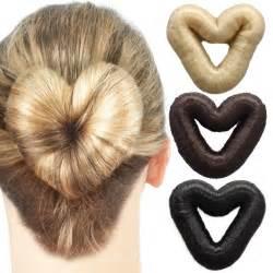 Cm love heart hair donut witth fake hair multiple colors
