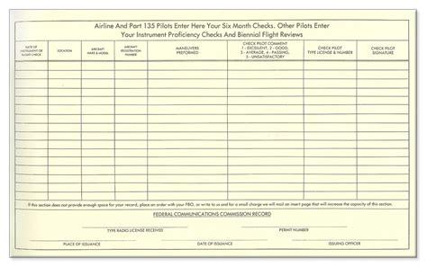 flight log book template images templates design ideas