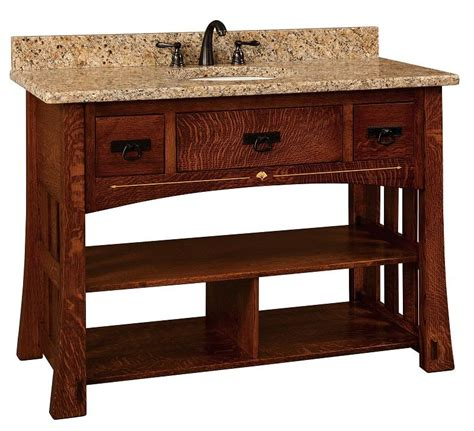 amish bathroom vanities amish 49 quot mesa mission single bathroom vanity cabinet with
