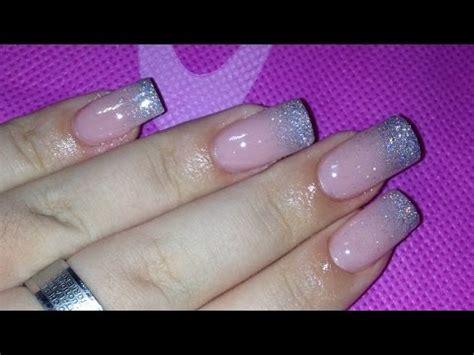 tutorial nail art gel sfumato nail art con glitter rosa wmv doovi