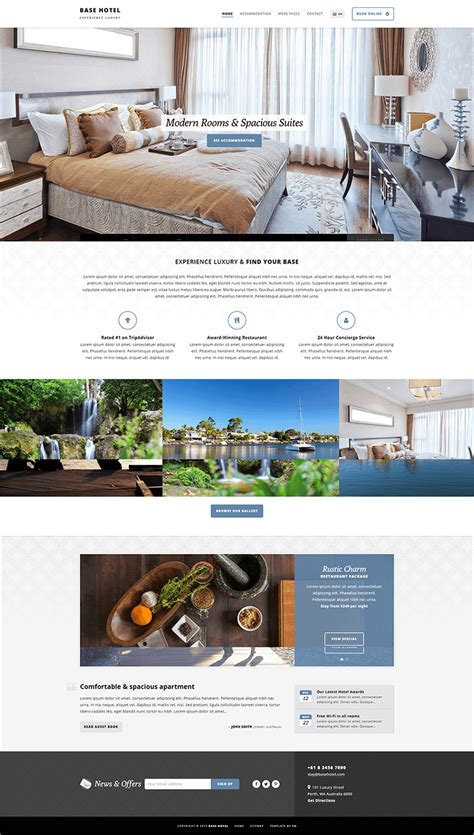 php templates free 10 hotel php themes templates free premium templates