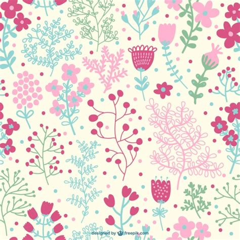 floral pattern vector commercial use pink seamless floral pattern vector free download