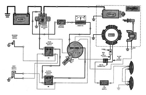mower starter wiring diagram lawn mower wiring