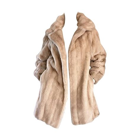 fur swing coat incredible vintage lilli ann 1960s faux fur blonde tan 60s