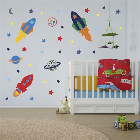 rocket wall stickers space rockets wall stickers by mirrorin