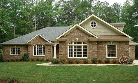 brick home plans brick ranch house plans brick one story house plans all