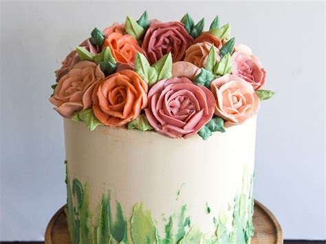 Cake Decorating Flowers Buttercream by 6 Buttercream Icing Cake Decorating Ideas Food Network
