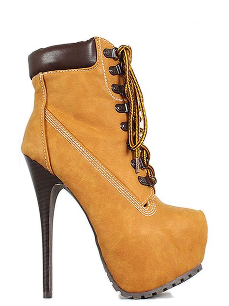brown high heel timberland style boots wonderful