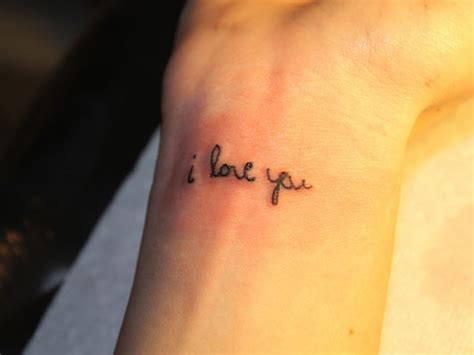 in love tattoos 25 i you wrist tattoos
