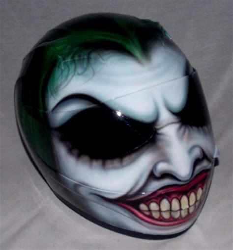 Helm Kyt Batman The Joker Helmet Custom 3d Painted Motorcycle Helmet