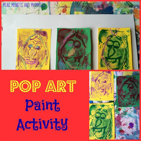 pop for toddlers mini monets and mommies andy warhol print