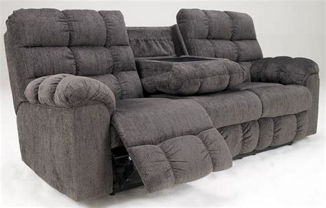 Acieona Slate Reclining Sofa With Drop Down Table 5830089 Reclining Sofa With Table