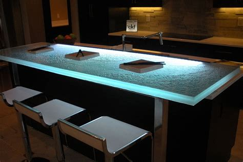 Lighted Bar Top by Trends Talking Glass Countertops With Vladimir