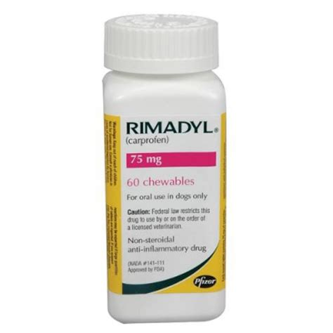 rimadyl 75mg for dogs rimadyl chewable tablets for dogs 75mg only 1 83 excl gst free fast delivery