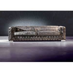 crushed velvet sofa with upholstered buttons