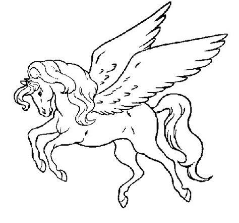 imagenes de unicornios volando dibujo de pegaso volando para colorear dibujos net