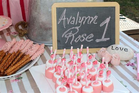 rose themed birthday party rose theme 1st birthday birthday party ideas photo 1 of