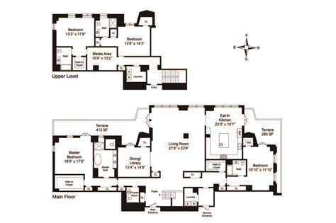 Apartment Floor Plans Nyc | two sophisticated luxury apartments in ny includes floor