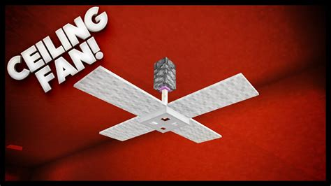 How To Make A Ceiling Fan by Minecraft How To Make A Ceiling Fan