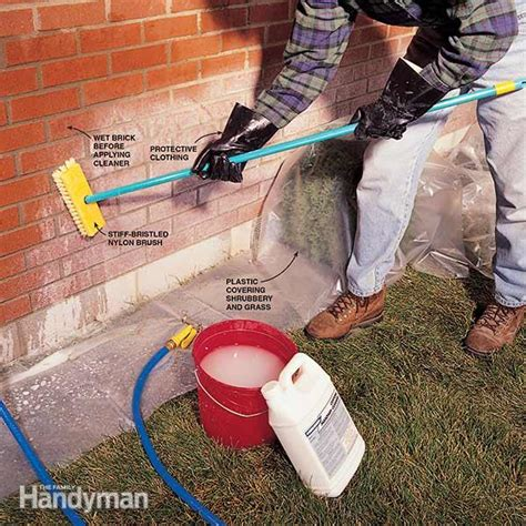 How To Clean An Interior Brick Wall by How To Clean Brick The Family Handyman