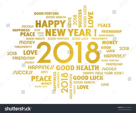 gold greeting words around new year stock vector 751550563