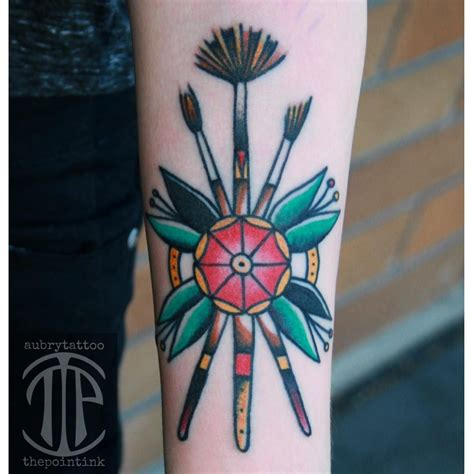 pencil tattoo pencil and paintbrush www imgkid the image