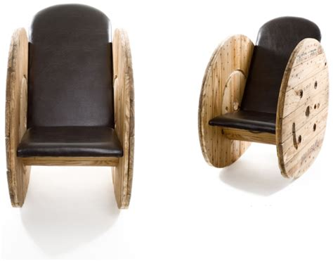 Wooden Spool Chair by Creative Reel Furniture
