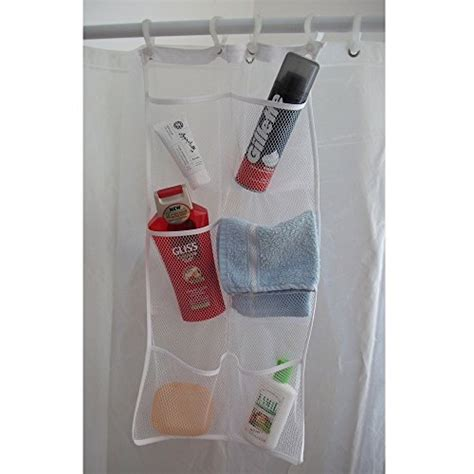 Bathroom Shower Caddy Rust Proof Hanb Mesh Shower Caddy Organizer Hang On Shower Curtain Rod Liner Hooks White Basic Rv