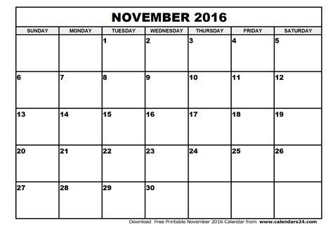 Kalender 2016 Nov November 2016 Calendar December 2016 Calendar