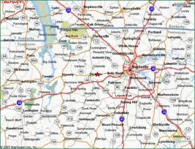 road map of tennessee and tn golf trail the traditionals montgomery bell map