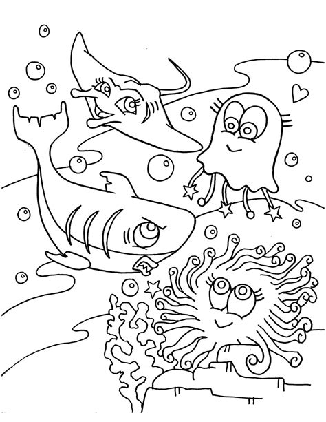 free coloring pages underwater animals animal coloring pages for free sea animals gianfreda net