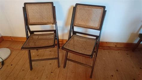 Matching Occasional Chairs Vintage Matching Pair Rattan Folding Occasional Chairs