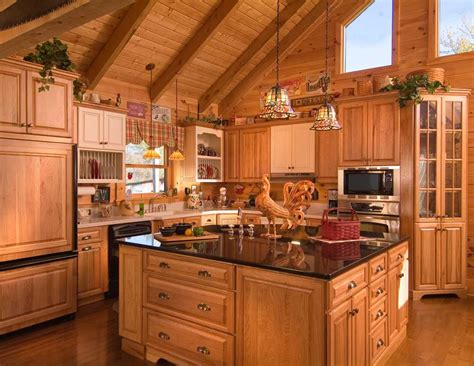 log home kitchen designs log cabin interiors design ideas knowledgebase