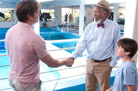 freeman in dolphin tale dolphin tale set visit collider
