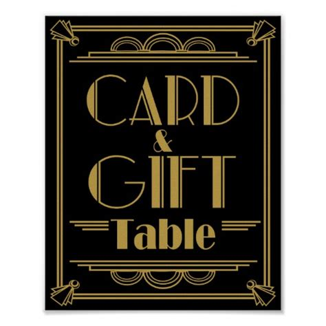 Table Signs by Deco Card And Gift Table Wedding Signs Poster Zazzle