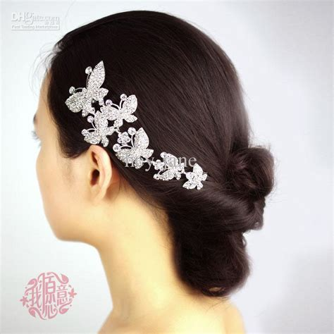 Wedding Hair Accessories Direct by In Stock Metal Six Butterfly Wedding Bridal