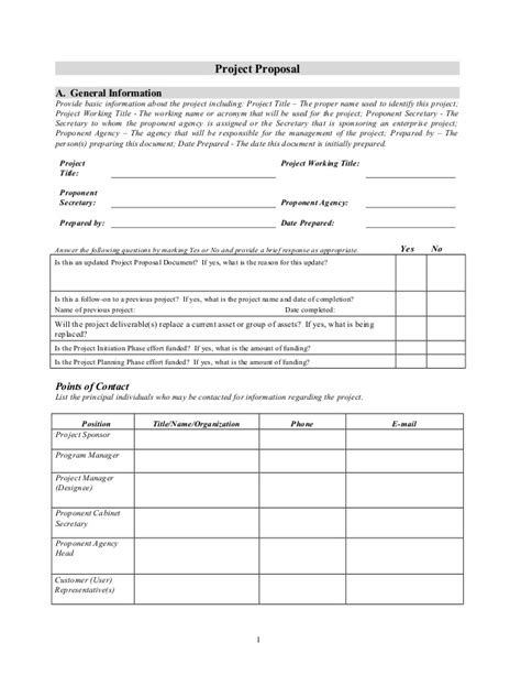 project proposal document template