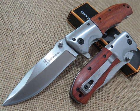 wood handle folding knife browning da51 folding knife wooden handle 56hrc 5cr13