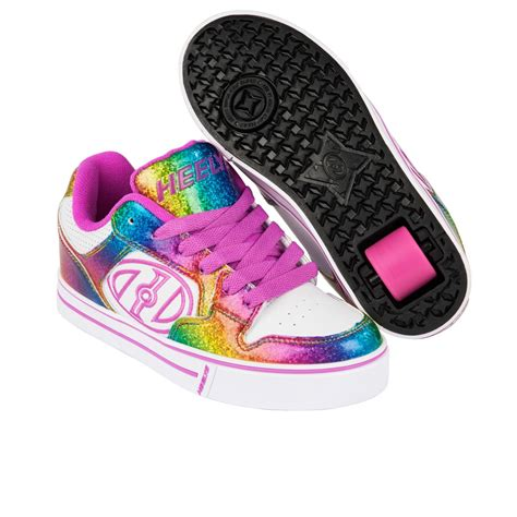 heelys shoes heelys motionplus skate shoes white rainbow pink free
