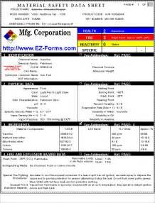 msds ez msds material safety data sheet forms processor