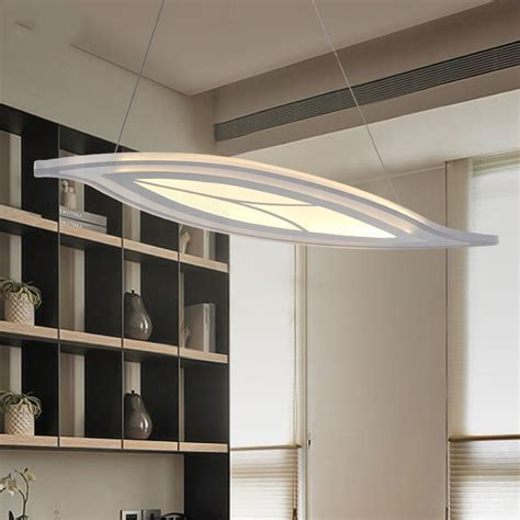 Hanging Ceiling Lights For Kitchen Leaf Led Pendant Lights Modern Kitchen Acrylic Suspension Hanging Ceiling L Dining Table