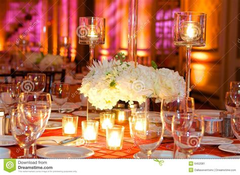 table de reception table setting at a luxury wedding reception stock image image 6452081