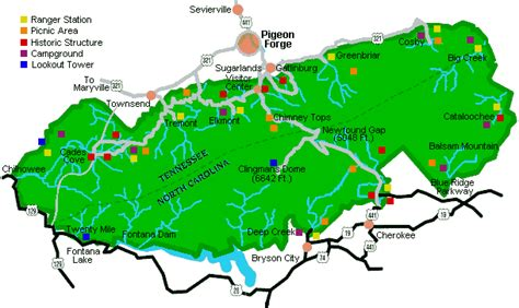 great smoky mountains national park map fireside chalets cabin and chalet rentals