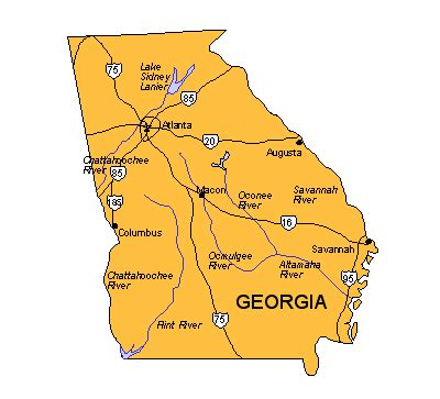 map of georgia cities cities in georgia usa maps for design us states maps georgia us state