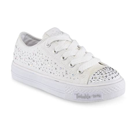 light up shuffle shoes skechers s twinkle toes shuffle white light up sneakers