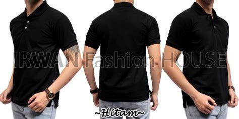 Kaos Polos Hitam Kerah Tinggi jual polo 6 kaos baju kerah pria cowok pendek hitam polos