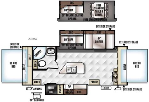 rockwood cer floor plans new 2017 forest river rv rockwood roo 23ikss expandable at